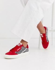 Кроссовки со звериным принтом adidas Originals Continental 80 Vulc-Мульти