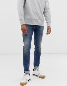 Синие зауженные джинсы Diesel Sleenker-X [#0:D2]}AB-Синий