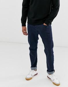 Темные суженные книзу джинсы классического кроя Diesel Larkee-Beex 084LC-Синий