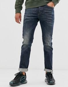 Темные узкие джинсы классического кроя Diesel Buster 084ZU-Синий