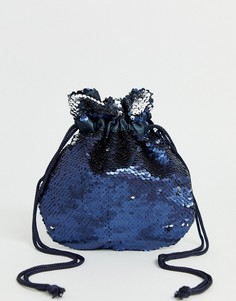 Небольшая сумка с пайетками Pieces-Синий