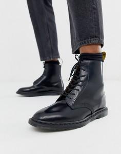 Черные ботинки с 8 парами люверсов Dr Martens Winchester-Черный