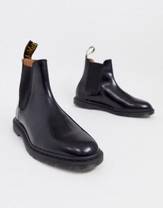 Шлифованные гладкие ботинки челси черного цвета Dr Martens Graeme-Черный
