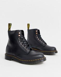 Черные ботинки со шнуровкой на 8 пар люверсов Dr Martens 1460 Pascal-Черный