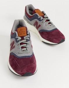 Бордовые кроссовки New Balance 997H-Красный