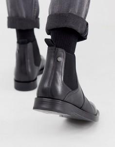 Черные ботинки челси Base London Rossetti-Черный