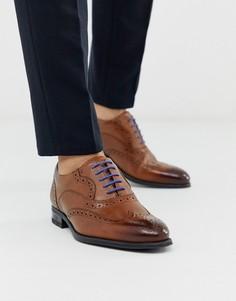 Светло-коричневые кожаные броги Ted Baker - mitack-Светло-коричневый