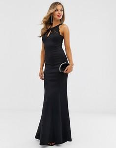 Платье макси с открытой спиной City Goddess-Черный
