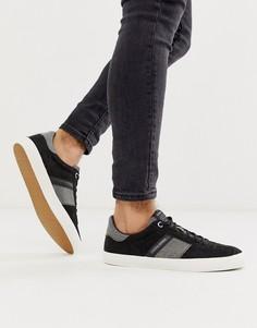 Черные замшевые кроссовки на контрастной подошве Jack & Jones-Черный