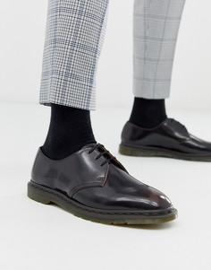 Вишнево-красные ботинки с люверсами Dr Martens - Archie (3 пары люверсов)-Красный