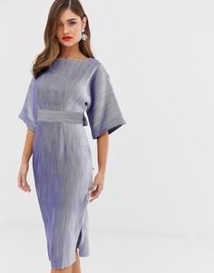 Синее платье-футляр с поясом Closet London-Синий