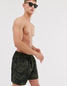 Камуфляжные шорты для плавания French Connection-Зеленый