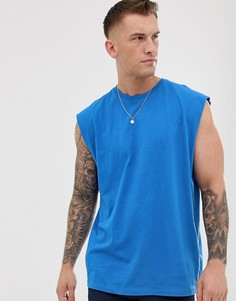 Синяя длинная oversize-майка ASOS DESIGN-Синий
