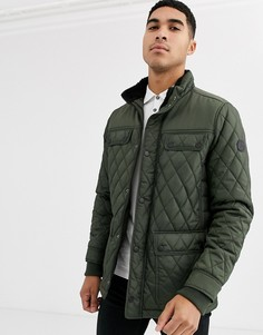 Стеганая куртка цвета хаки Burton Menswear-Зеленый