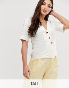 Свободная блузка Glamorous Tall-Белый