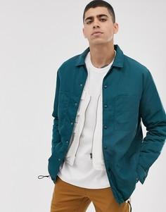 Синяя куртка с фиксаторами ASOS WHITE-Синий