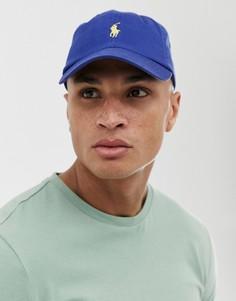 Синяя бейсболка с логотипом Polo Ralph Lauren-Синий