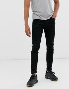 Черные супероблегающие джинсы Diesel D-Istort 069EF-Черный