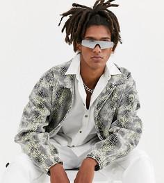 Oversize-куртка со змеиным принтом COLLUSION-Мульти
