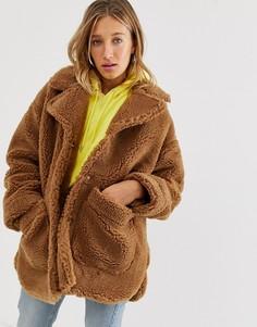Пальто из искусственного меха Monki-Мульти