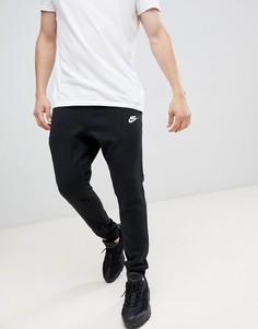Черные джоггеры с манжетами Nike Club BV2671-010-Черный