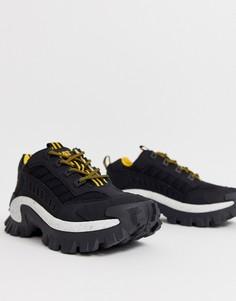 Черные кроссовки на толстой подошве CAT Intruder-Черный