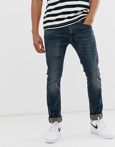Зеленые стретчевые джинсы слим Diesel Thommer 084AU-Синий