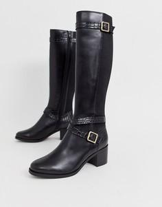 Черные сапоги на блочном каблуке Dune-Черный