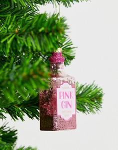 Новогоднее украшение в виде розового джина Sass & Belle-Мульти