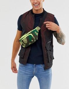 Сумка-кошелек на пояс с камуфляжным принтом Original Penguin-Зеленый