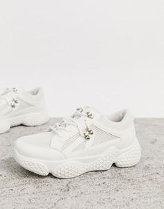 Белые кроссовки Public Desire-Белый