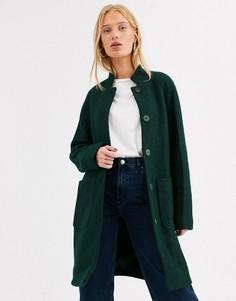 Удлиненное пальто Selected-Зеленый
