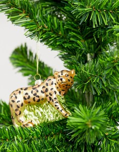 Новогоднее елочное украшение в виде фигурки леопарда Sass & Belle-Мульти