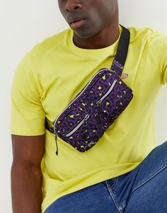 Фиолетовая сумка в стиле милитари с леопардовым принтом вместимостью 1,7 литра Mi-Pac-Фиолетовый
