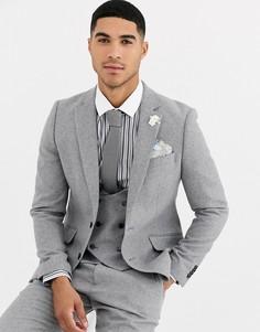Приталенный пиджак с добавлением шерсти Gianni Feraud Winter Wedding-Серый