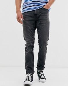 Серые зауженные джинсы Nudie Jeans Co Lean Dean-Серый