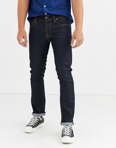 Темно-синие прямые джинсы слим Nudie Jeans Co Grim Tim-Темно-синий