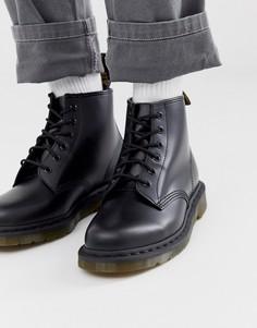 Черные ботинки с 6 парами люверсов Dr Martens 101-Черный
