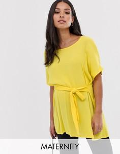 Блузка с завязкой Mamalicious-Желтый Mama.Licious