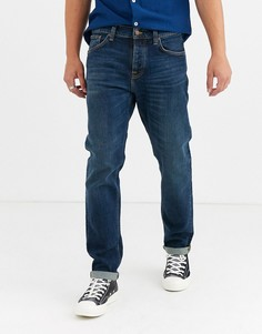 Темные суженные книзу джинсы Nudie Jeans Co Steady Eddie II-Синий