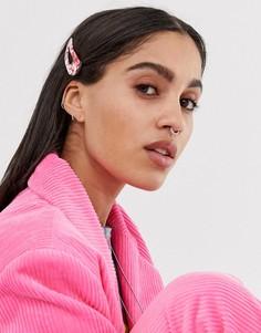Ярко-розовая заколка для волос с мраморным принтом Margherita-Розовый