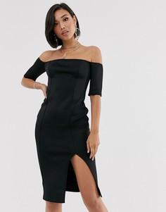 Облегающее платье миди ASOS DESIGN-Черный