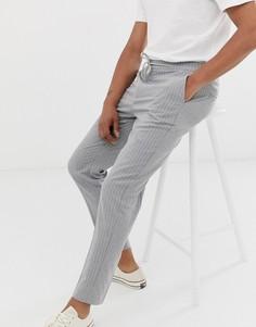 Серые брюки слим в тонкую полоску Celio-Серый