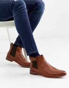 Коричневые ботинки челси с пряжками River Island-Коричневый