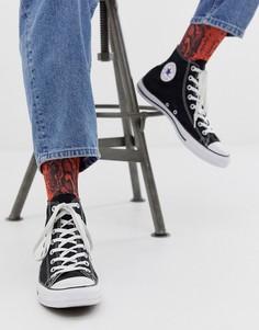 Красные носки до щиколотки со змеиным принтом ASOS DESIGN-Красный