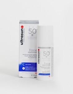 Антивозрастной крем для лица с фактором защиты SPF 50+ Ultrasun, 50 мл-Бесцветный