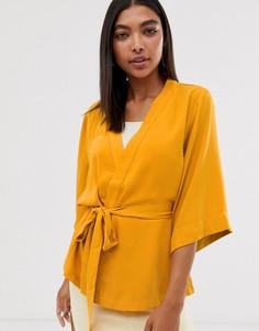 Кимоно с поясом Minimum-Желтый