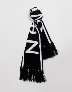 Черный трикотажный шарф с логотипом Religion