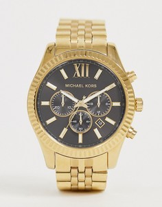 Золотистые наручные часы Michael Kors MK8286 Lexington-Золотой