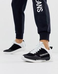 Черно-белые кроссовки с логотипом Calvin Klein Angus-Черный